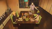 Химавари, Боруто и Хината обедают
