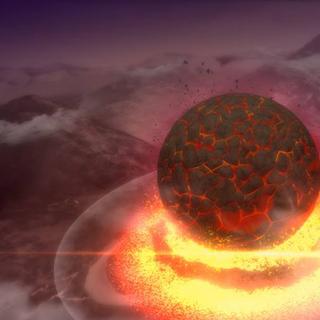 ...el meteorito cae...