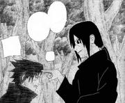 Itachi cutuca Sasuke