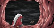 Jiraiya llega con Naruto