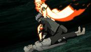 Minato detiene a Kakashi de asesinar a Obito