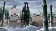 Sasuke no enterro dos falecidos pelos humanos explosivos