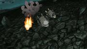 B sends the shinobi flying