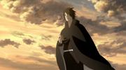 Sasuke com bilhete de Naruto