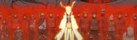Shinobis de la Alianza con capas de chakra de Kurama