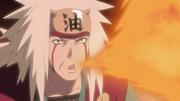 Jiraiya usando Elemento Fuego