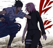 Sasuke atraviesa a Sakura