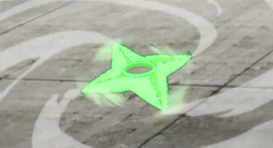 Shuriken Rotatoria de Viento Anime