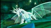 Akari transformada en el Genryū de Luz