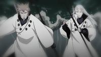 Hagoromo e Hamura lutando