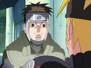Yamato assustando Naruto