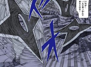 Jutsu de Shuriken Espacio-Temporal Manga