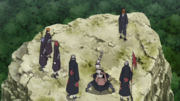 Hizashi e os membros da Akatsuki