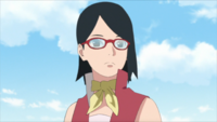 Sarada en la academia (Anime)