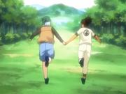 Mizuki e Iruka tornam-se amigos