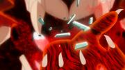 Naruto con Seis Colas rompe el collar