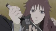 Naruto le da su hoja Konoha a Sāra