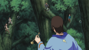 Utakata confronts the Magaki Group.