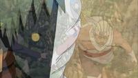 Zetsu sente o chakra de Naruto e B