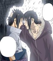 Itachi se despede de sasuke