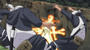 Fuerza física de Naruto en el Modo Control de Chakra