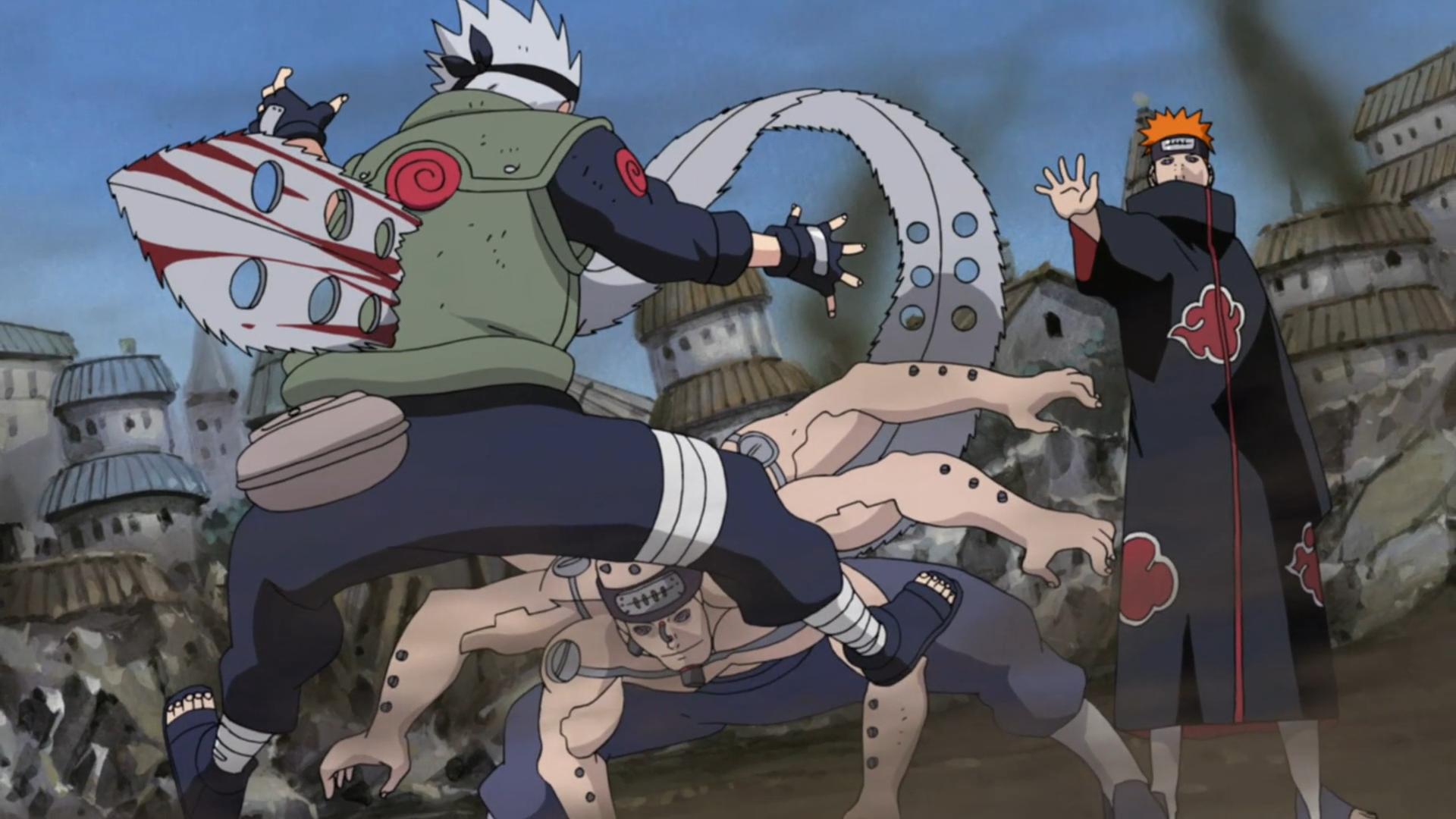 Naruto Kakashi Dies Pain vs. Kakashi | Nar...