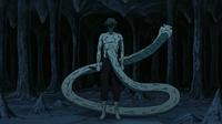 Kabuto en su Transformación del Sabio combinada con el Modo Sabio