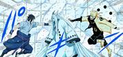 Kaguya prende Naruto e Sasuke (Colorido)
