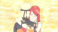 Kushina dá o seu último abraço em Naruto
