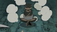 Minato invocando Gerotora
