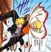 Boruto suprised by Naruto