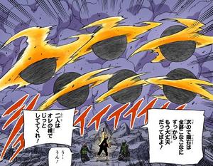 Continuo Rasen Shuriken de Bola Bestia con Cola Manga
