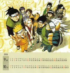Naruto Calendario 2006 Septiembre-Octubre Versión A