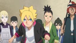 Inojin, Boruto, Shikadai, Denki, Iwabee episodio 4