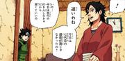 Mirai hablando con Kurenai