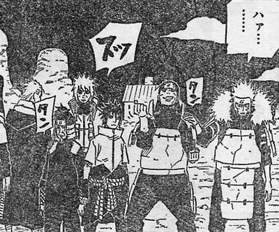 Sasuke junto a los 4 kages para ir a la guerra Imagen Destacada
