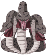Três Cobras Gigantes (Render)