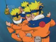 Naruto y sus clones contra Gosunkugi