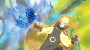 Arte Sabio Rasen Shuriken de Elemento Fuego Anime