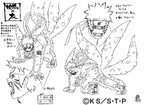 Diseño de Naruto Tres Colas por Pierrot