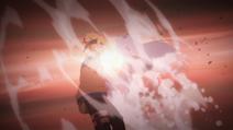 Momoshiki colocando o Karma em Boruto (Anime)