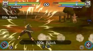 Naruto ultimate ninja heroes 3 tsunade 100M punch