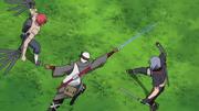 Omoi dan Kankuro menyerang Shin