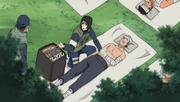 Shizune curando ninjas