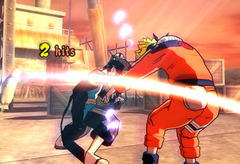 Haku cuts his opponents…