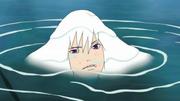 Suigetsu w wodzie