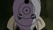 A máscara de guerra de Tobi