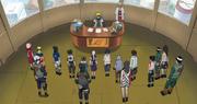 Equipos Genin reunidos con Minato