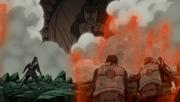 Hiruzen luchando con Tobi