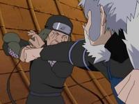 Tobirama attacks Hiruzen